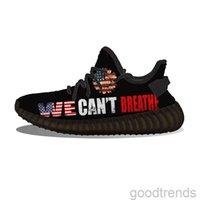DIY pattern shoes We Can't Breathe USA Flag Running Shoes Mesh Printed Mens Womens Trainers Outdoorflat shoe