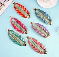 42 Hot sell fashion Ms. Simple Vintage Geometric Hair Clip Multicolor Wild Hair Clip