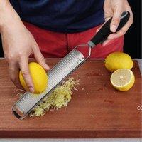 Zester Ralador de queijo Durável Slicer para Lemon Gengibre Alho Noz-moscada Chocolate Vegetais Frutos Faca de Aço Inoxidável Cozinha Dha7001