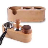 51/54 / 58mm Manual Drewniana Mata Barista Espresso Ing Latte Art Pen Holder Uchwyt do kawy Akcesoria