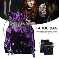 Storage Bags 13x18cm Witch Constellation Energy Crystal Bag Star Gift Drawstring High-end Jewelry Velvet Tarot Card