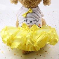 Yaz Bahar Köpek Giysileri Tatlı Prenses Küçük Orta Köpekler için Pet Elbise Doğum Günü Düğün Kedi Evcil Elbiseler Yavru Kostüm Giyim