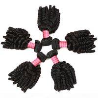8A Brasilianische Bouncy Curls Weave Jungfrau Tante Funmi Human Haare Webart 4 Bündel Romantik Lose Welle Locken Remy Human Hair Extensions