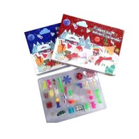 Stock Christmas Fidget Toy Advent Calendar Set December 24 days Push Bubble 24pcs Set Silicone Stress Reliever Sensory Toy Tiktok 3896 Q2