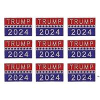 Trump 2024 Presidential Election Brooch Party Supplies U.S. Patriotic Republican Campaign Metal Pin Badge FWD10052