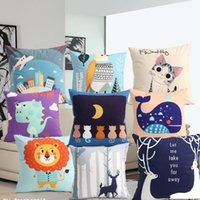 Pillow Cushion Waist Leisure Cartoon Cute Square Comfortable With Core Set Environmentally Friendly Cotton