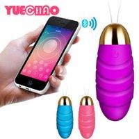 Yuechao bluetooth vibrador sem fio sexo brinquedos para mulher app controle remoto saltar ovo USB recarregável vibrando ovo produtos Y0408