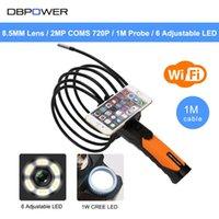Câmeras DBPower 2MP COMS 720P Sem Fio WiFi Endoscópio 1M tubo Inspeção de Vídeo Câmera de cobra 2.4GHz 802.11b / g / n Borescópio Android