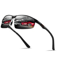 Sunglasses Men's Driving Polarized Aluminum Magnesium Frame Sports Sun Glasses Men Driver Retro Goggles Eyewear UV400 Anti-Glare