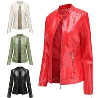 Women Leather Jacket PU Female Slim Autumn Punk Jackets Motorcycle Biker Coat Fashion Brand Clothing Street Coats Women's & Faux
