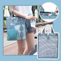Large Capacity Mesh Shoulder Bag Swimming Pool Beach Swimwear Shoes Storage For Outdoor Shopping Travel Tote Bags