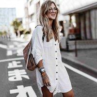 Boho inspira longues chemise à manches à manches longues pour femmes de la tunique de plage en vrace couvre-tuniques de col en V blouse asymétrique couvre-bikini couvre-bikini blanc T200720