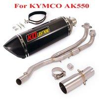 Per Kymco AK550 silenziatore di scarico Supporta Escape DB Killer Braffles Connection Collegamento Tacco anteriore Televisore