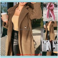 Jackets&Hoodies Wear Athletic Outdoor Apparel Sports & Outdoorspink Long Teddy Bear Jacket Coat Winter Thick Warm Oversized Chunky Outerwear
