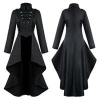 Femmes Mode Halloween Vestes Gothic Steampunk Button Bouton Corset Costume Casual Costume Décontracté Veste Oreillette # L30 Trenchers de la femme