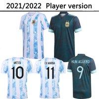 2021 2022 Argentinien Home Auswärts Spielerversion Fussball Jersey 20 21 Messi Dybalera Erwachsene Fussball Hemden Aguero Icardi Mascherano Camiseta de Futbol