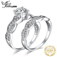 Cluster Rings JPalace Infinity Engagement Ring Set 925 Sterling Silver For Women Anniversary Wedding Bridal Jewelry