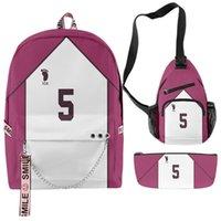 Backpack 2021 3D Print Haikyuu!! Backpacks Sets Hip Hop School Bags Keys Accessories Boys Girls Oxford Travel Suit