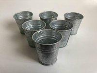 D7XH7CM 금속 컵 아연 도금 된 즙이 많은 냄비 빈티지 향수 미니 정원 실버 주석 화분 웨딩 즙이 많은 냄비 루 RH9239