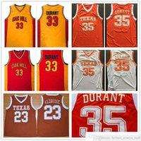 NCAA Texas Longhorns College Basketball Jerseys camisetas Lamarcus # 23 Aldridge Kevin 35 Durant Oak Hill High School Schaestited Basketball Jersey