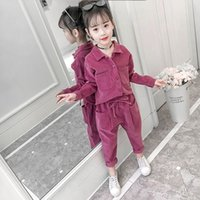 Girls' Suit 2021 Spring Clothes New Children's Korean Version Two Piece Set for Middle School and University Children