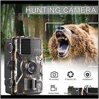 카메라 트레일 포리스트 카메라 DL100 12MP 1080P 와일드 카메라 추적 게임 IP66 야간 시계 사냥 Potrap 열 이미지 e72xi rzqna