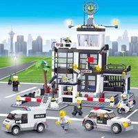 City Police Station Truck Set Technic Car Building Blocks Mini Bricks Figure Toys Friends Diy Creator Vehicle Model For Children Boys 04