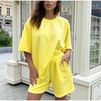 T-shirt Vêtements de sport et short de Summer T-shirt et shorts Forfaits Ensemble Femme 2021 Dailou Pack