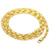 Cadenas chapadas en oro de 24k para hombres y mujeres encantadores de joyería fina gargantilla 3mm collares al por mayor hermoso regalo enlace cadena fiesta