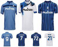 Maglie di calcio di alta qualità 20 21 Atalanta BC Maglie di calcio Muriel Gomez 2021 Duvan Gosens Camicia da calcio Ilicic Pasalic Miranchuk Lammers Men Kit U