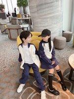 Enfants Enfants Spring Automne Automne Casual Tracksuit Set Enfants Garçon Girl Vêtements Ensembles Coton Zipper Jacket Pantalons 2PCS Sweats à capuche Jupe Baby Sport Cuissons