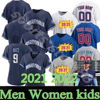 2021 2022 пользовательских 44 Anthony Rizzo Jersey мужчины женщин детей 40 Willson Contreras 17 Kris Bryant 20 21 9 Javier Baez бейсбол