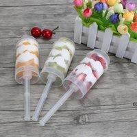 Clear Cake Tube Box Push Up Контейнеры одноразовые пластиковые чашки мороженого формы для приготовления пищи DHF7196