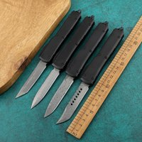 Nuovo Micro Damasco Automatic Knife Outdoor Camping Defense Pocket Knife Bench Made A16 A168 C07 Survival Tactical Auto Knife