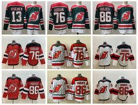 2021 New Jersey Devils Hockey Jerseys Mens Jack Hughes Nico Hischier P.K. Subban Miles Wood Mackenzie Blackwood Pavel Zacha Jesper Bratt Will Butcher cosido
