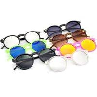 Toiletry Kits Unisex Sunglasses Round Mirror Lens Women Luxury Plastic Sun Glasses Classic Retro Travel Accessories
