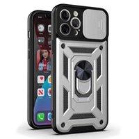 iphone 11 x xs xr 7 8 케이스 Shockproof Armor 자기 금속 링 커버 아이폰 7 8 플러스 XR 최대 슬라이드 카메라 렌즈 케이스