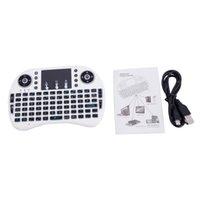 Tastiera wireless wireless a 3 colori mini I8 2,4 GHz con touchpad bianco