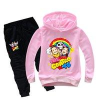 Designer Fashion children's clothing designer Teenmiro Me Contro Te Kids Clothes Set Boys Hooded Sweatshirts Pants Girls Cotton Tracksuits T