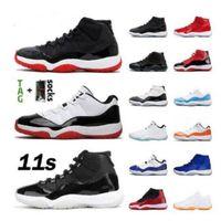 أعلى 11 منخفضة بيضاء bred 11s jumpman أحذية كرة السلة الورثة ليلة مارون بانتون اعتقد 16 ثعبان روز الذهب الرجال النساء أحذية رياضية