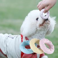 Pet entertainment interactive paw print doughnut toy molars teeth cleaning dog training supplies TPR material NHA5686