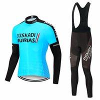 Macho Uso Ciclistico Euskadi Pro Team MTB Jersey Cyclisme Costume Primavera E Ouverono de Manga Longa Hombre Vêtements de vélo Vêtements Ensembles de course