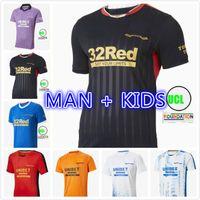 Rangers 21 22 Jerseys de fútbol 150 aniversario Inicio Aleatario Glasgow Entrenamiento Defoe Hagi Barker Morelos Tavernier 2021 2022 Camiseta Maillot Camisa de Fútbol Hombres + Kit Kids