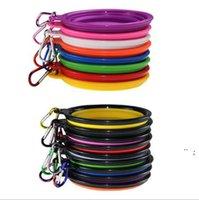 للطي جرو السلطانية السفر لطي سيليكون كلب الأطباق القط تغذية السلطانية طبق المياه المغذية سيليكون طوي 9 ألوان BWD6344