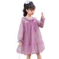 여자의 드레스 여자 용 메쉬 가격 드레스 도트 장식 조각 파티 어린이 활 어린이 의류 6 8 10 12 14