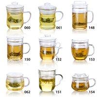 Variedade de formas bule resistentes ao calor de vidro de chá de chá de chá de água com infundir r lid shipping