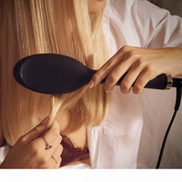 9hd الإنزلاق أنيون مجداف فرشاة الهواء وسادة الهواء مشط العلامة التجارية مشط تفكيك فرشاة الشعر مستقيم الحديد 220-240 فولت مع مربع التجزئة