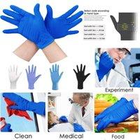 Soild 100pc Rubber Color Comfortable Disposable Nitrile Blue White Black Exam Gloves Reusable Mittens Drop Designer Abbk