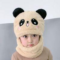 بيني بارد نوعية جيدة الدافئة لينة الاطفال قبعة قبعة الخريف الشتاء طفل الأطفال لطيف الباندا لصبي فتاة