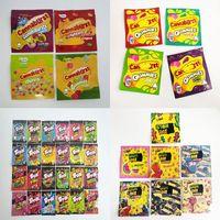 Cannaburst Gummies حقائب Mylar 500mg فارغة التوت الاستوائية Y سستة الحقيبة تخزين الأغلاق eDibles حقيبة التعبئة والتغليف SF